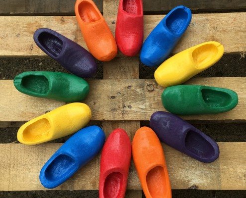 PaintedWoodenShoes