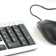 computer mouse and keyboard isolated on white