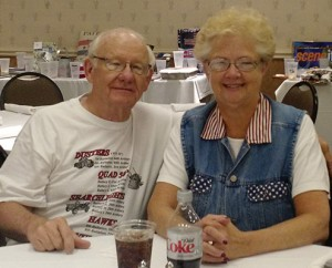 Bob and Bev at one of the annual reunions of Bob's battalion; photo courtesy of Bob and Bev Rohrs